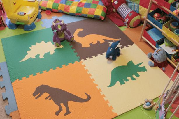 Review soft floor kids jurassic mats toby goes bananas for Floor kids review