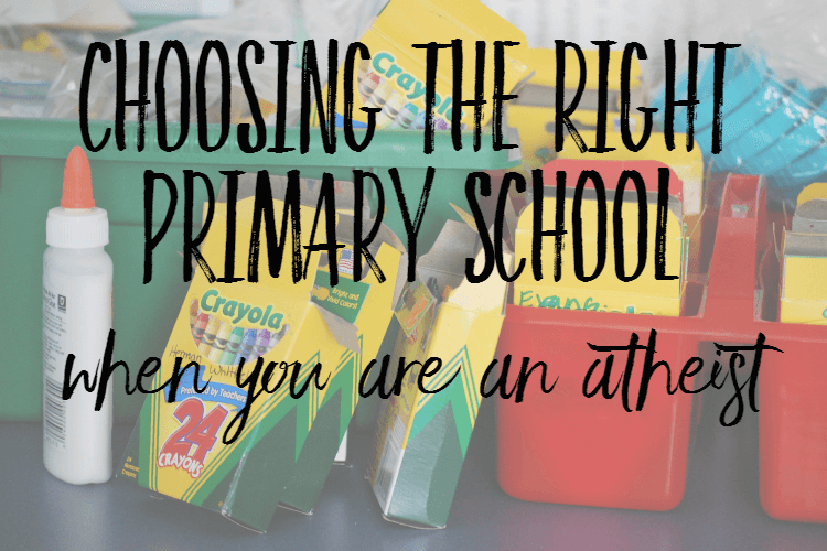 Choosing a primary school when you're an atheist