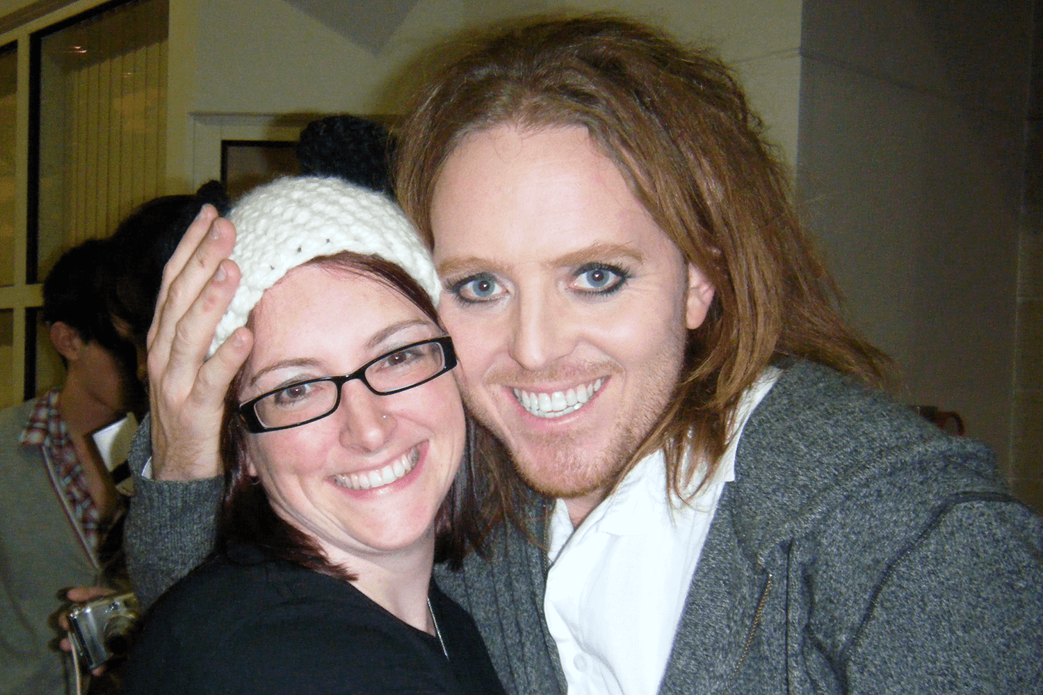 Tim Minchin and me after one of his concerts