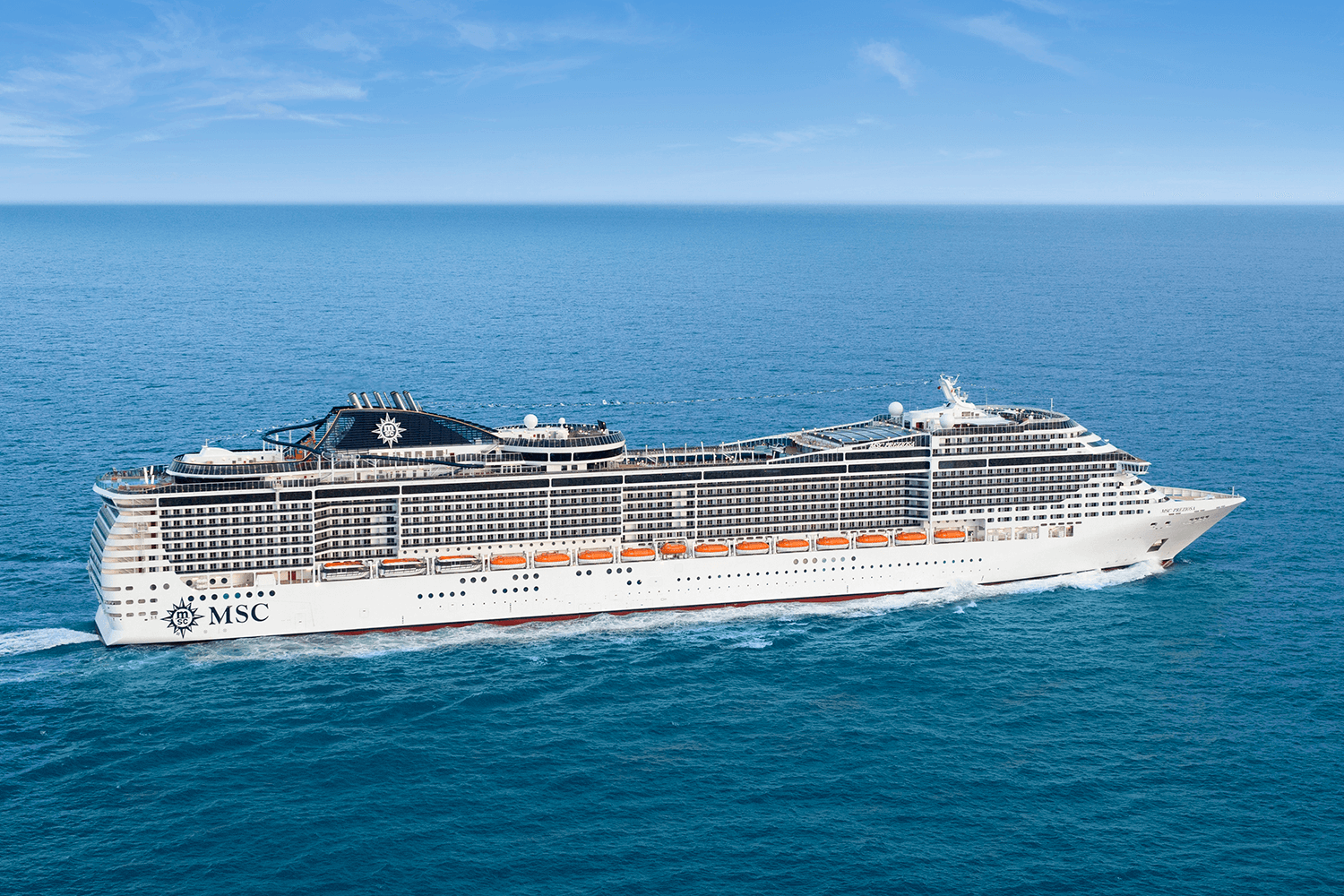 The MSC Preziosa at sea