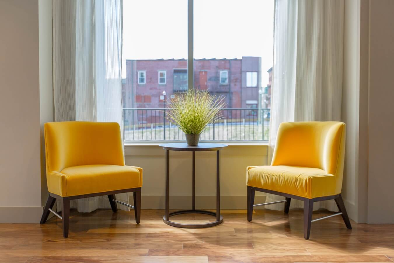 Chairs in front of a window