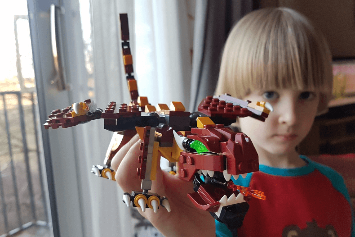 Toby and his LEGO dragon