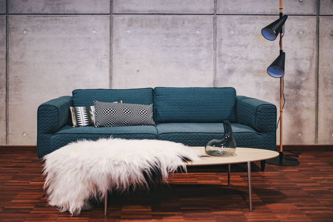 Blue sofa - cost effective ways to replace large furniture