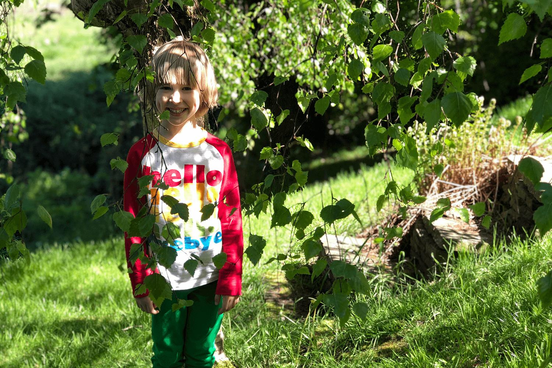 Toby hiding in the garden