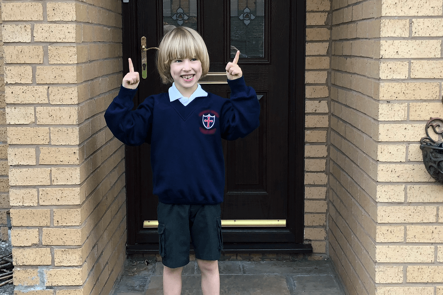 Toby all ready for his first day in Year 1