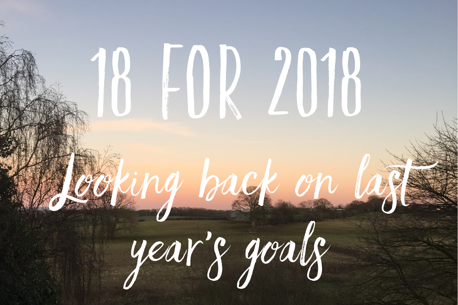 18 for 2018 - Looking back on last year's goals