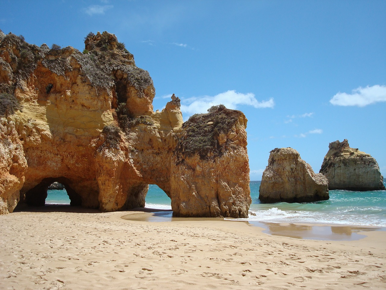 Beautiful sunny beaches in the Algarve