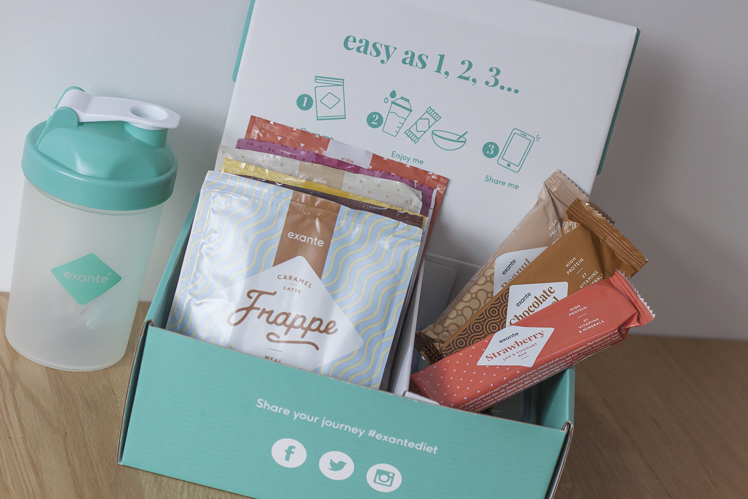 Exante Diet 3 day trial box
