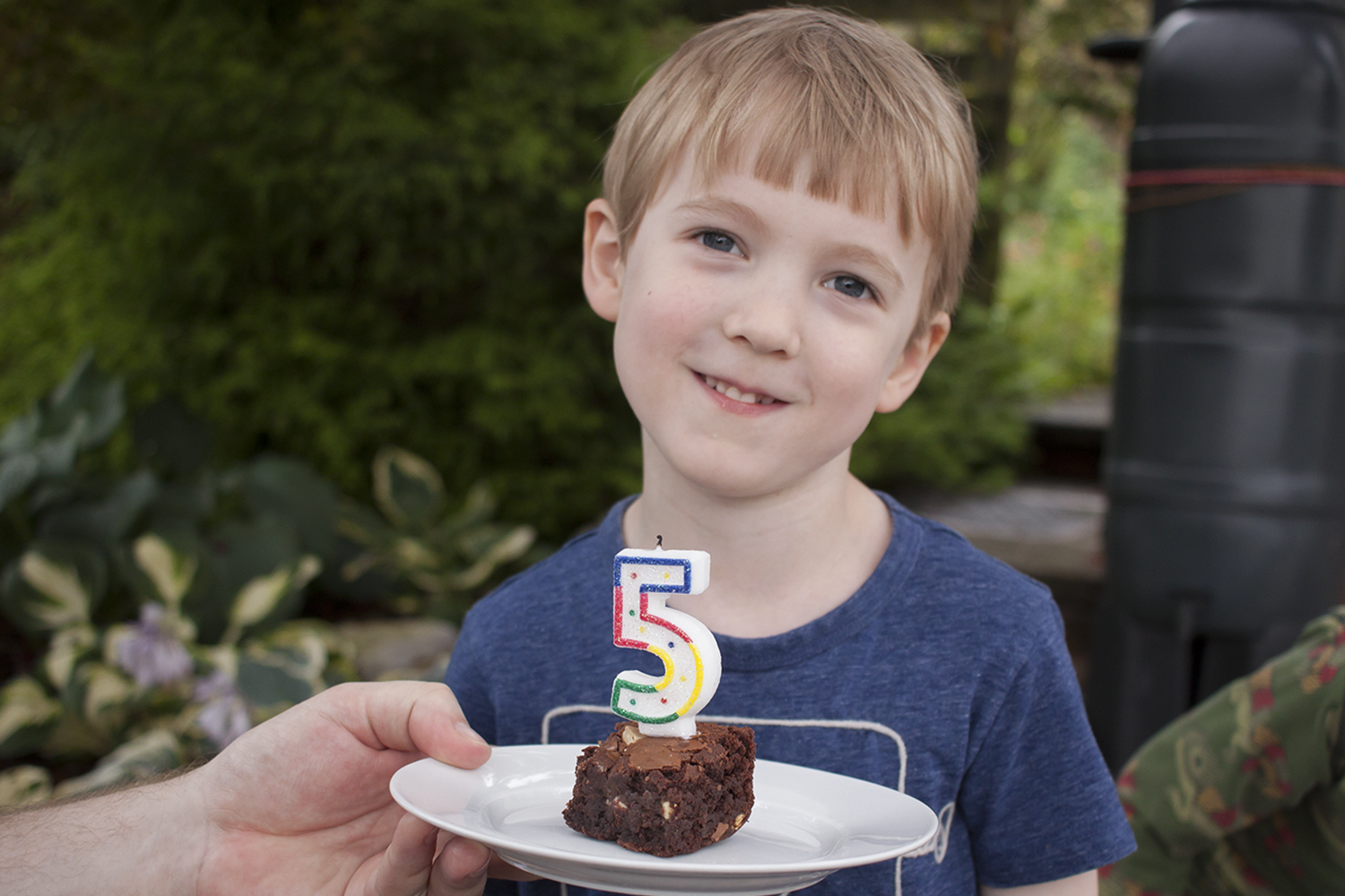 Gabe with his 5th birthday cake